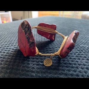 Red and gold Bourbon and Boweties bangle